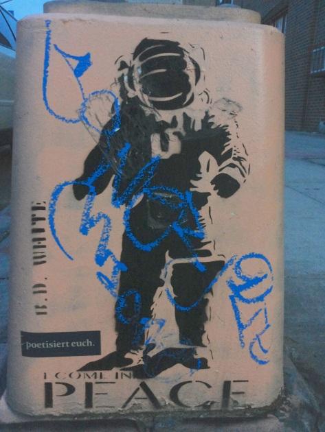 Astronaut på dustbin