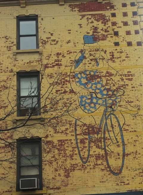 Veggsykkeldame, NYC kopi