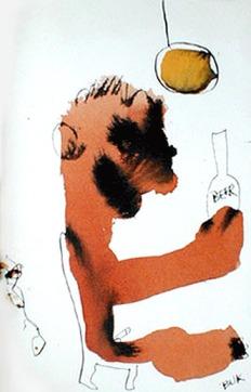 ØLtegning av Bukowski
